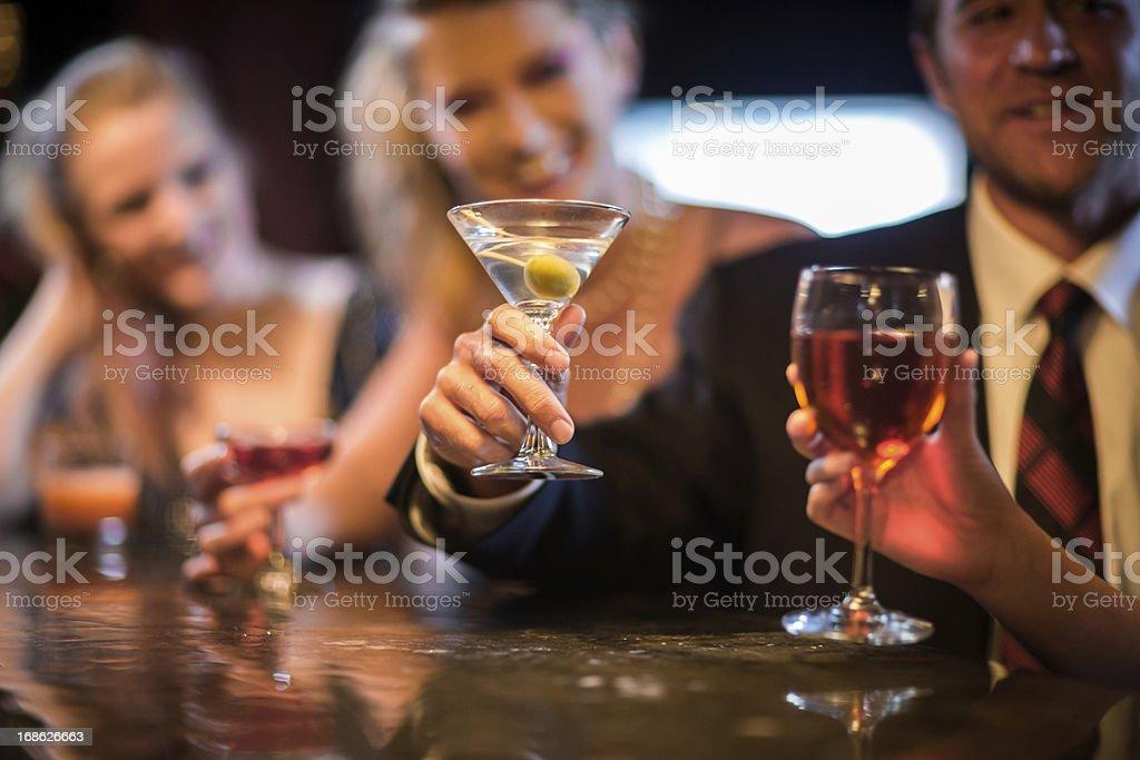 People at Bar royalty-free stock photo