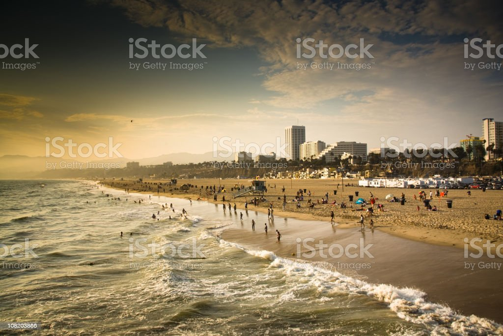 People at Beach royalty-free stock photo