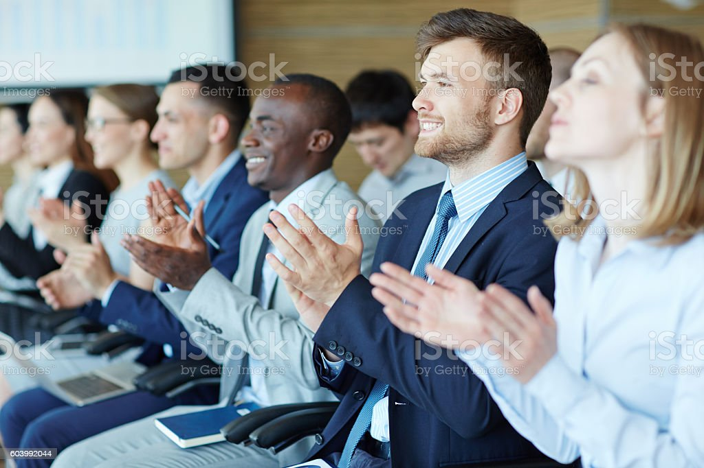 People at business training stock photo