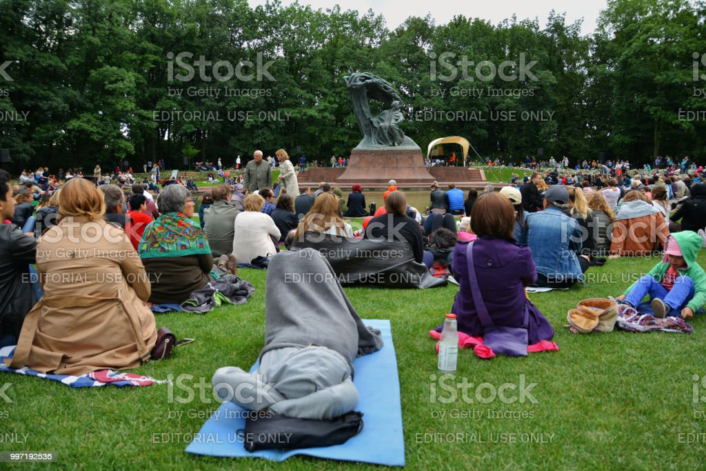 People At Chopin Concerts In The Royal Lazienki Park In