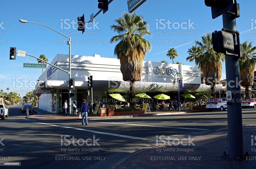 People at famous LuLu California Bistro, Palm Springs California, USA royalty-free stock photo
