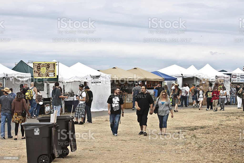 People at Hempfest royalty-free stock photo