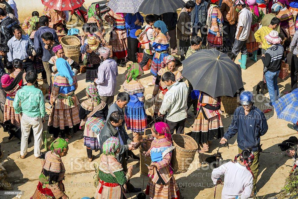 People at market, Vietnam stock photo