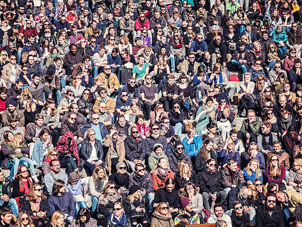 people at mauerpark, berlin stock photo