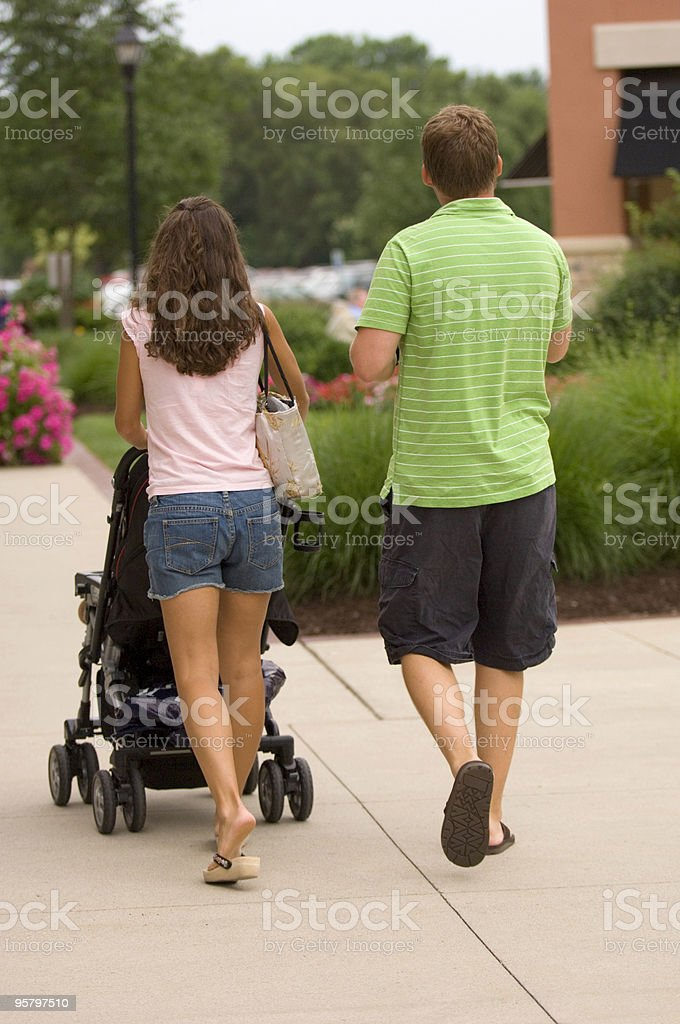 People at Outdoor Mall royalty-free stock photo