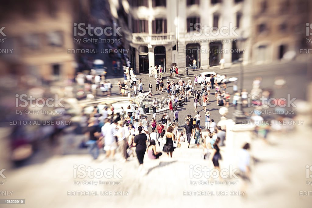 Menschen in die Piazza di Spagna – Foto