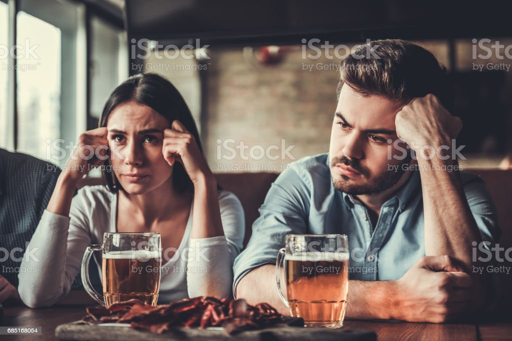 People at pub royalty-free stock photo