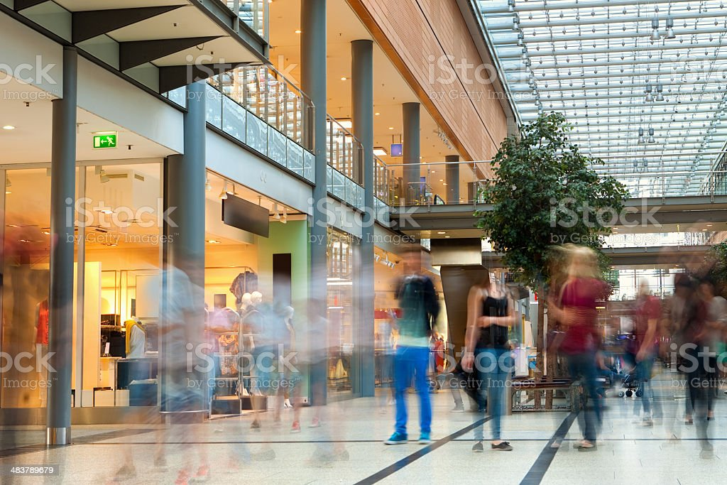 People at shopping mall royalty-free stock photo