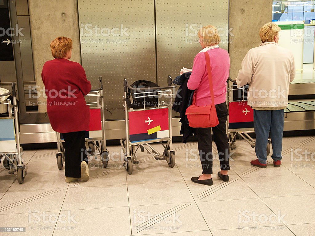 People at the airport royalty-free stock photo