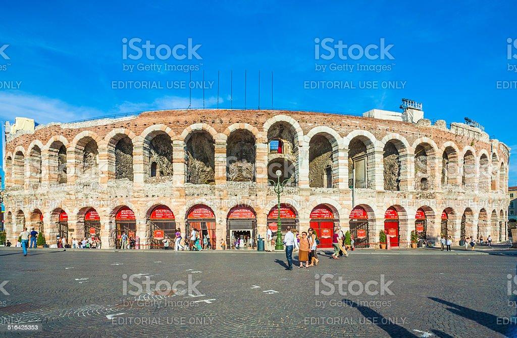 Menschen in der arena von Verona – Foto