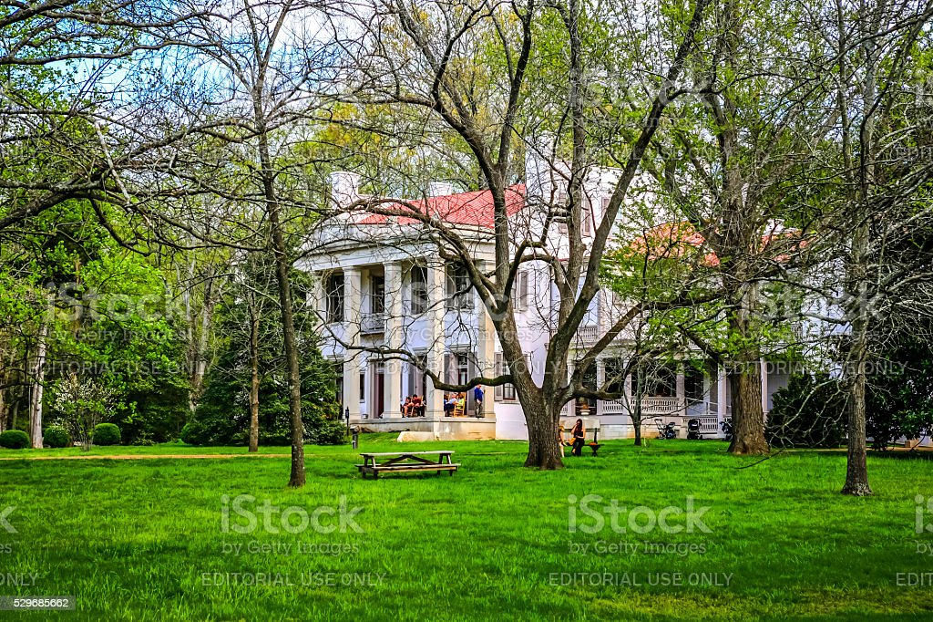 People at the Belle Meade Plantation in Nashville in Tennessee Nashville, TN, USA - April 4, 2016: People at the Belle Meade Plantation in Nashville in Tennessee Antebellum Stock Photo