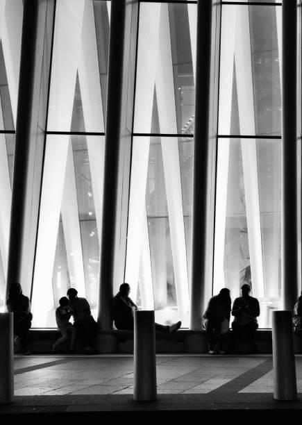 Leute im The Oculus, NYC. – Foto