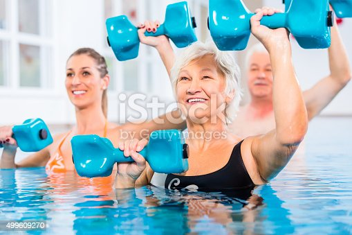 istock People at water gymnastics in physiotherapy 499609270
