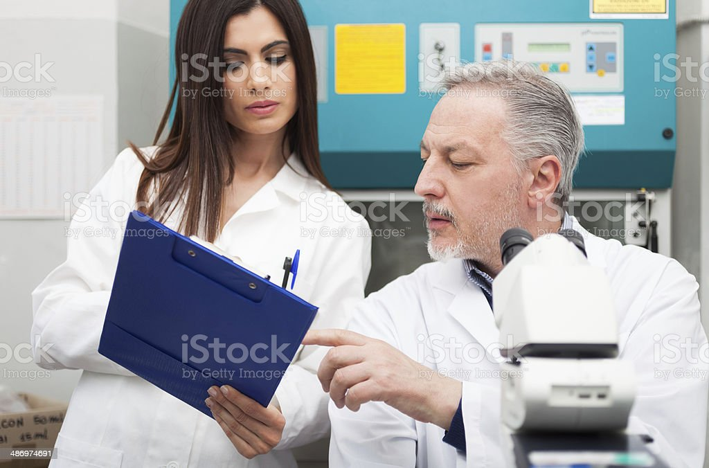 People at work in a laboratory stock photo