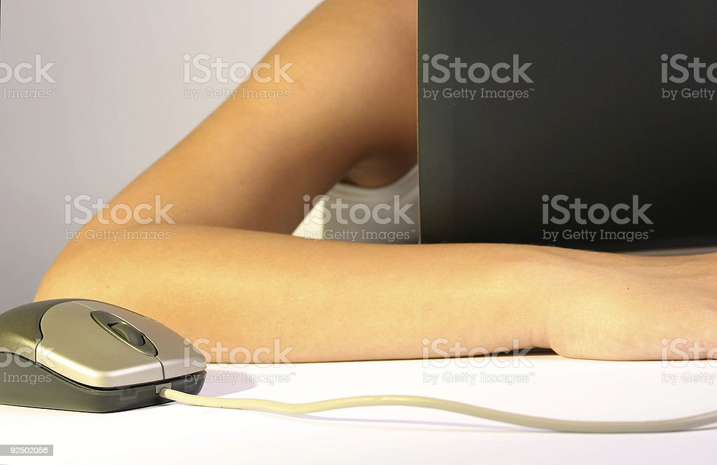 People at work - Tired royalty-free stock photo