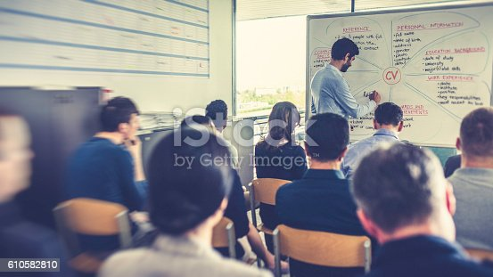 603992132 istock photo People attending a seminar about CV writing 610582810