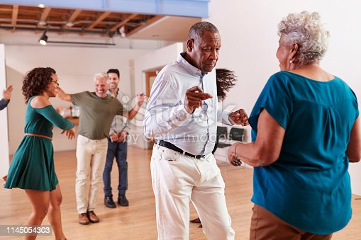 istock People Attending Dance Class In Community Center 1145054303