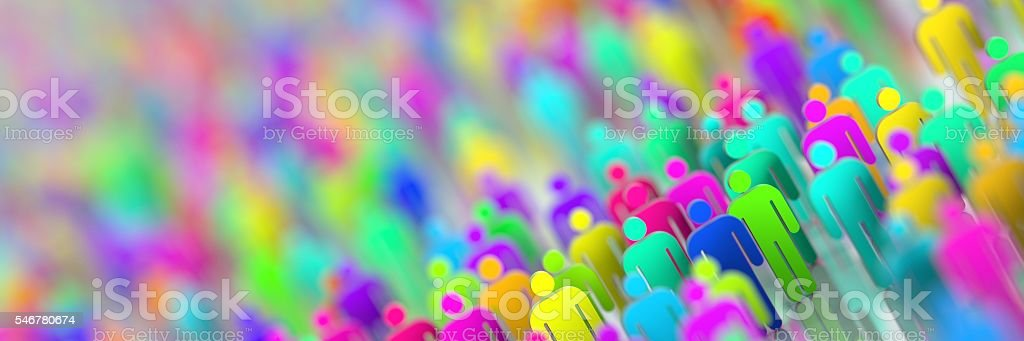People background stock photo