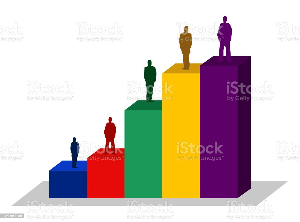 people bar chart financial business illustration stock photo