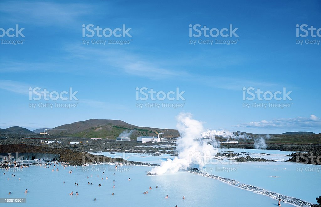 People bathing in The Blue Lagoon royalty-free stock photo