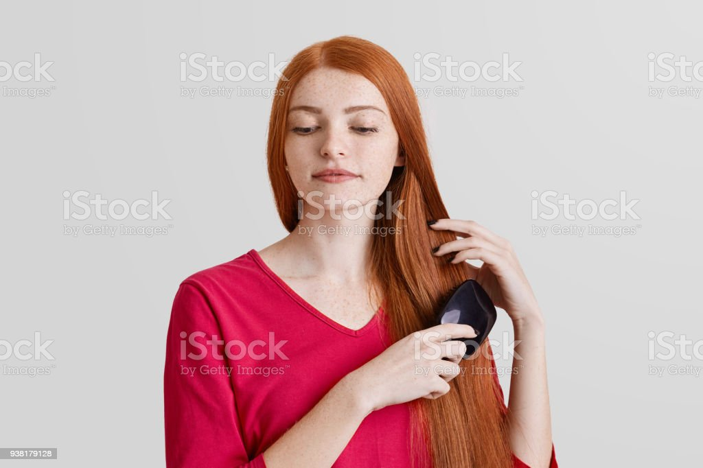 Menschen Schönheit Und Haare Pflegekonzept Schöne