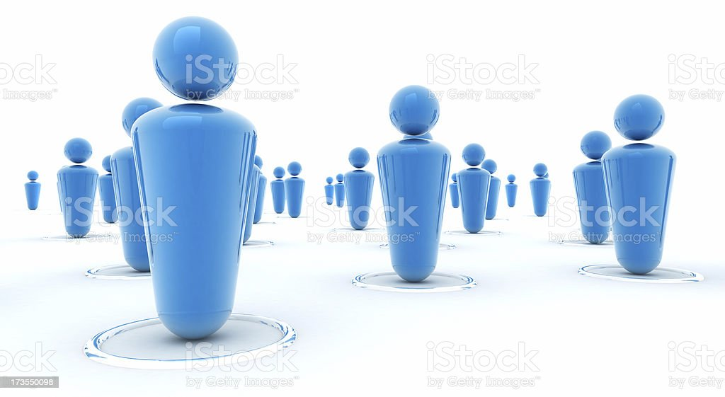 People blue royalty-free stock photo