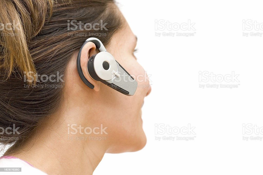 People - Bluetooth Cell Chat royalty-free stock photo