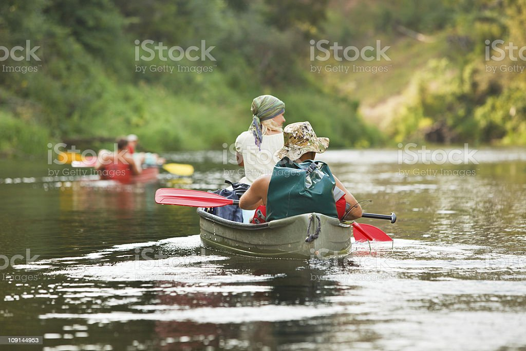 People boating on river royalty-free stock photo