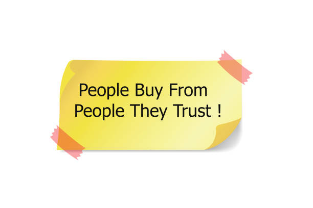 People Buy From People They Trust word written stock photo