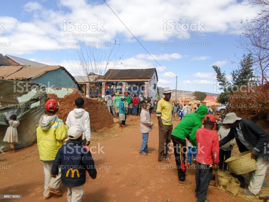 People buying sugar canes stock photo