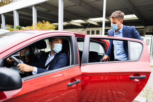 People Carpooling And Car Sharing stock photo