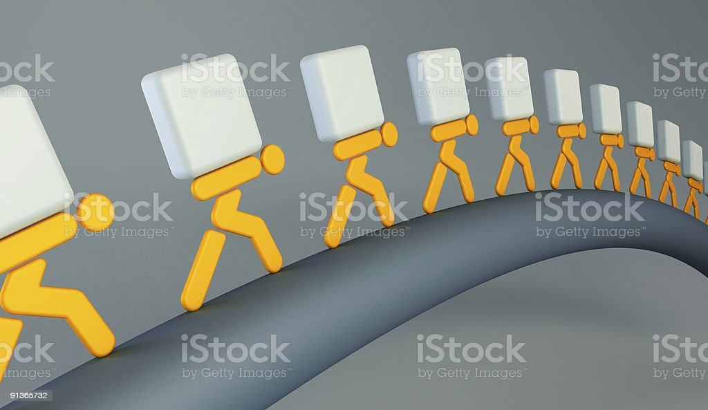 people carrying the loads royalty-free stock photo