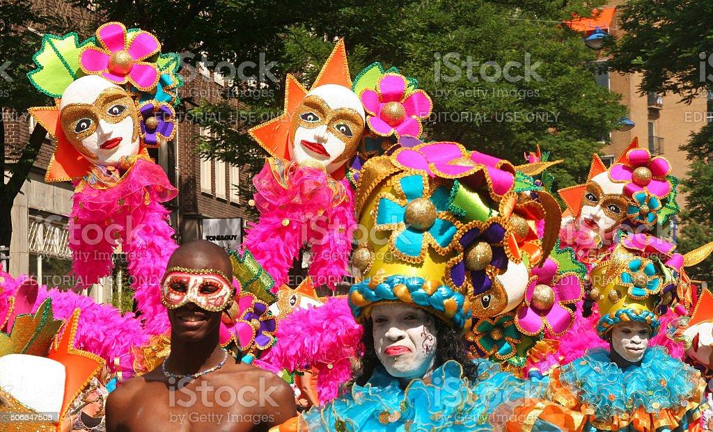 People celebrating Carnival stock photo
