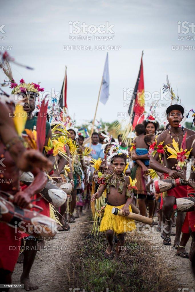 Menschen feiern in Papua-Neu-Guinea – Foto