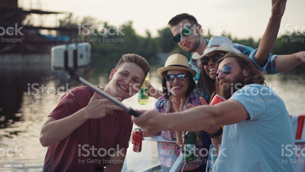 People celebrating national holiday stock photo