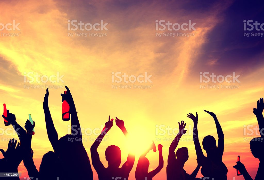 People Celebration Beach Party Summer Holiday Vacation Concept foto