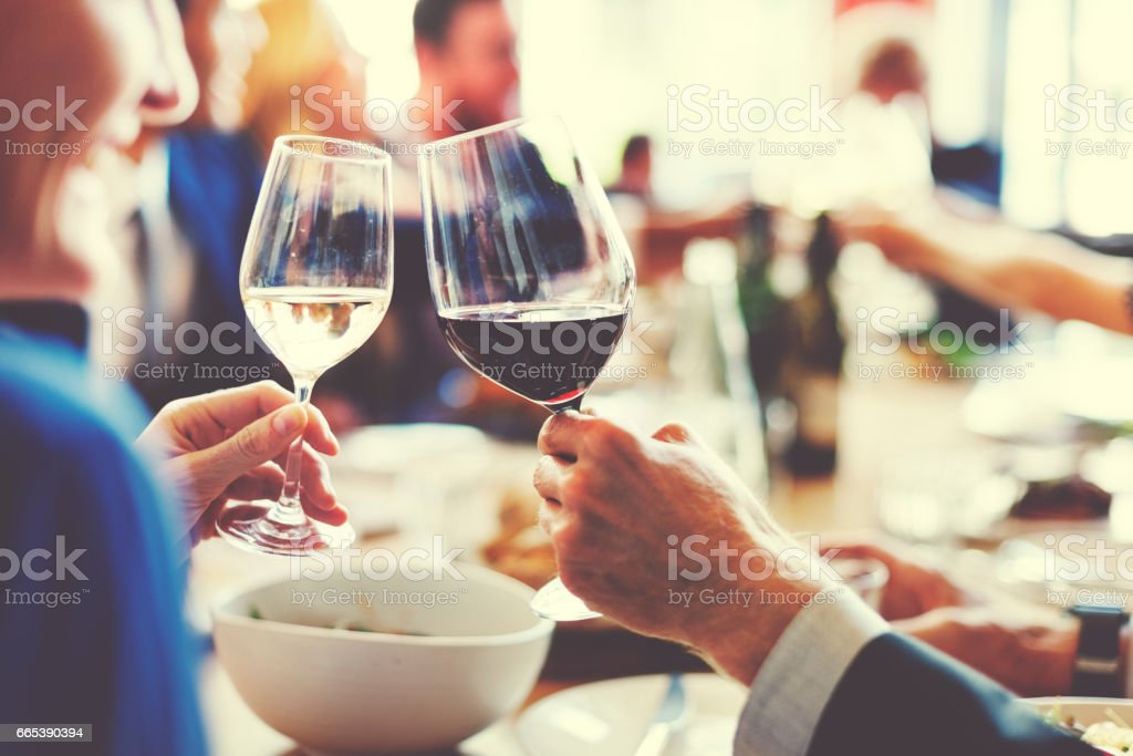 People Cheers Celebration Toast Happiness Togetherness Concept stock photo