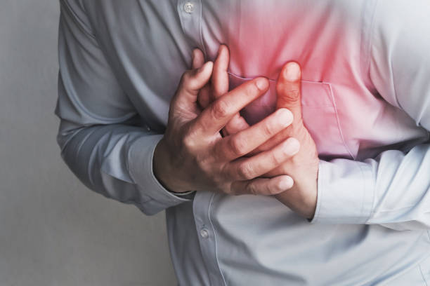 people chest pain from heart attack. healthcare concept people chest pain from heart attack. healthcare concept acute angle stock pictures, royalty-free photos & images
