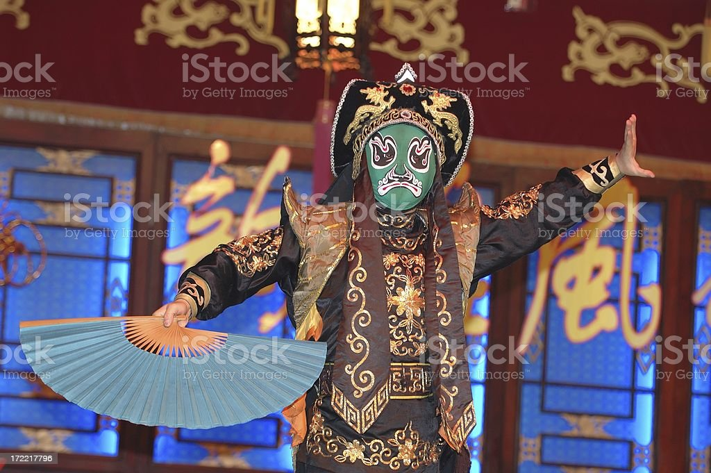 People : China Sichuan Opera Performer stock photo