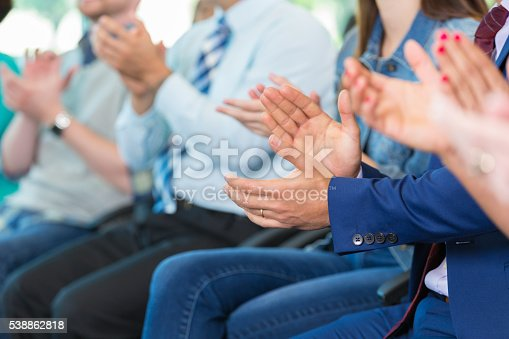 istock People clapping in approval 538862818