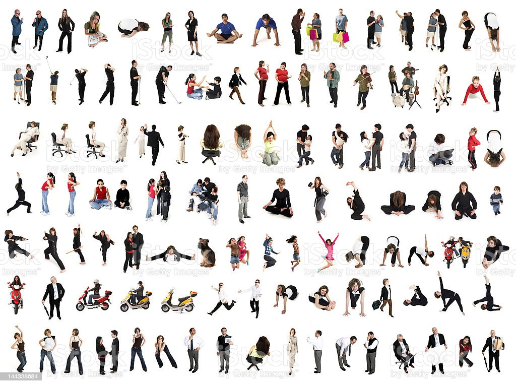 people collage stock photo