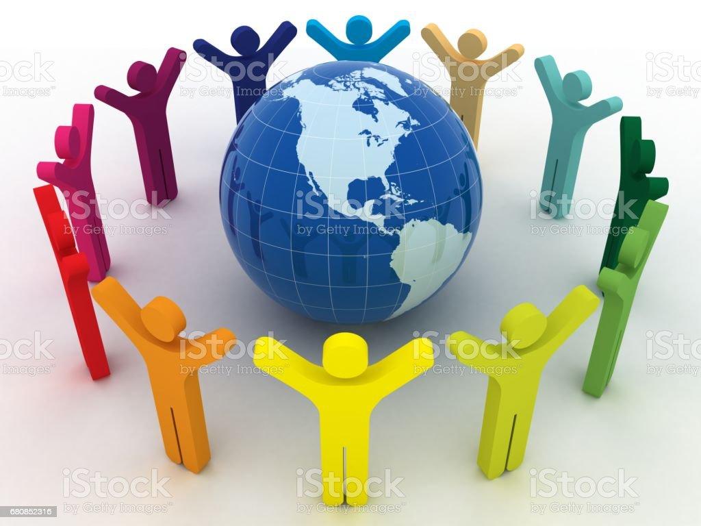 People communication social media teamwork success royalty-free stock photo