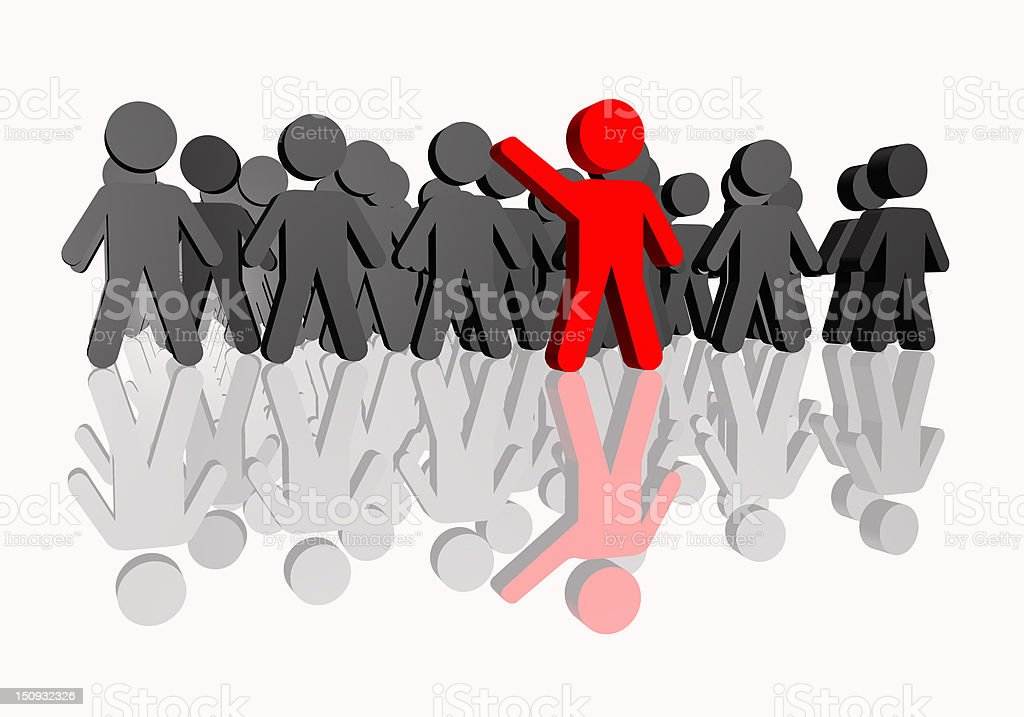 People concept of leadership royalty-free stock photo