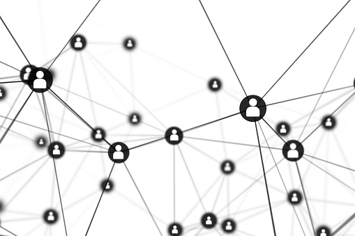 istock People Connection lines on white background, social network for technology concept, abstract illustration 953429766