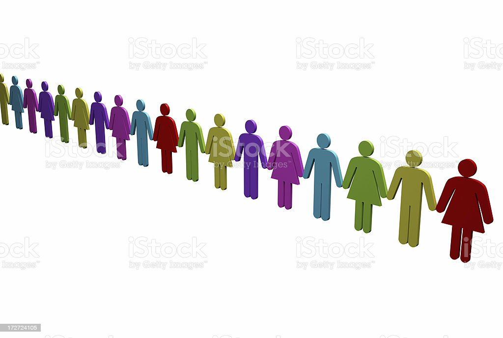 People Cooperation royalty-free stock photo