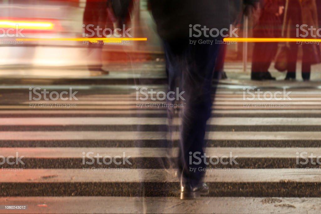 Rue de passage de personnes au passage pour piétons - Photo