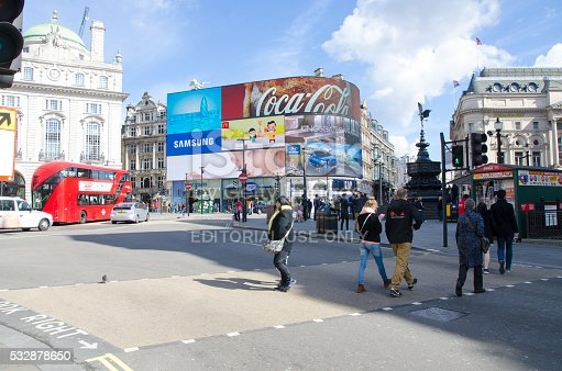 istock People crossing street at Piccadilly Circus Street 532878650