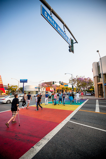 istock People crossing street in West Hollywood 471548409