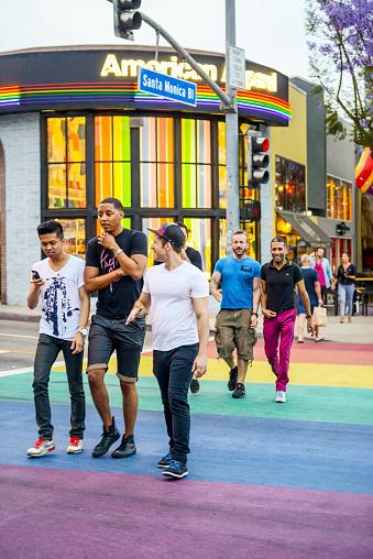 istock People crossing street in West Hollywood 471548427
