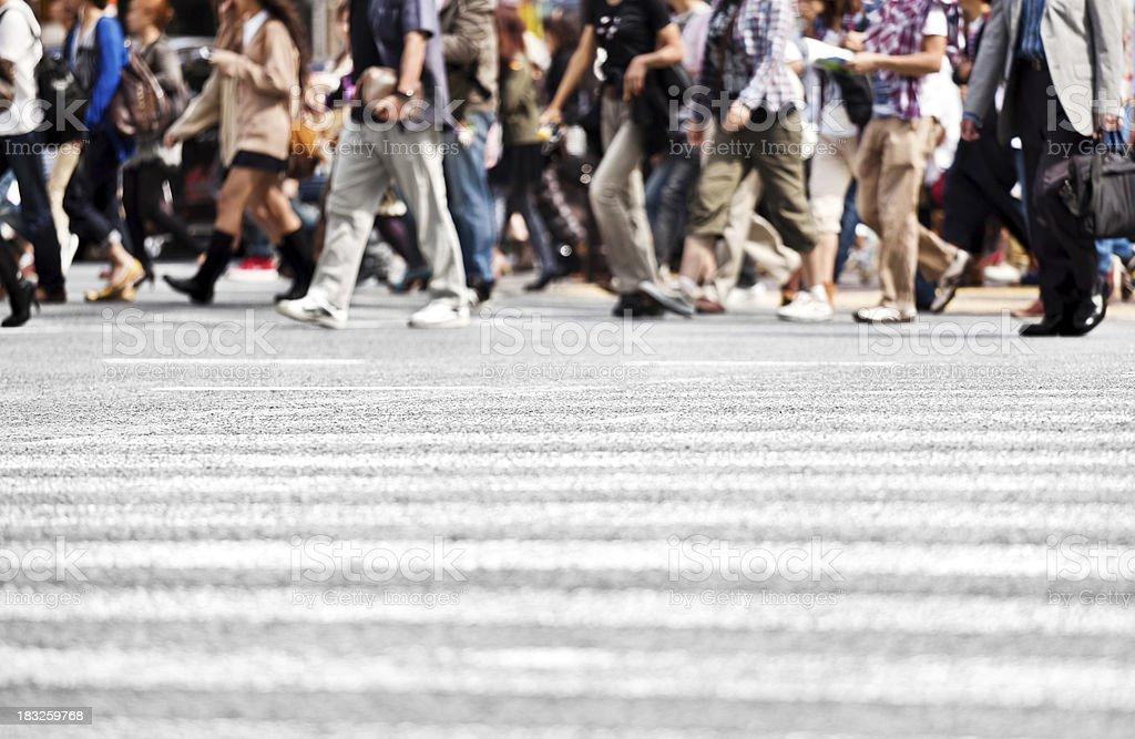 People Crossing Street royalty-free stock photo